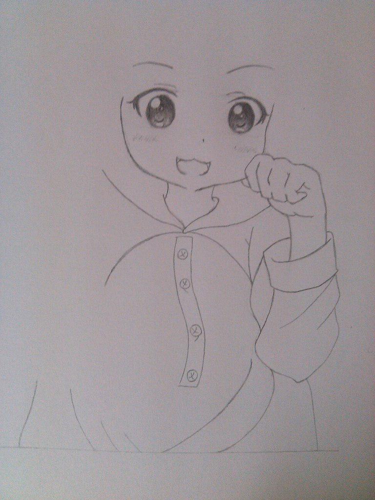 Рисуем милую аниме девочку в пижамке - шаг 4