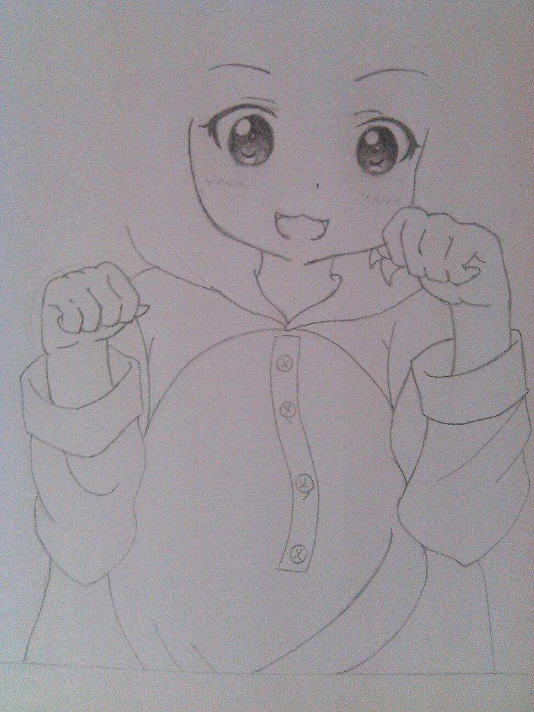Рисуем милую аниме девочку в пижамке - шаг 5