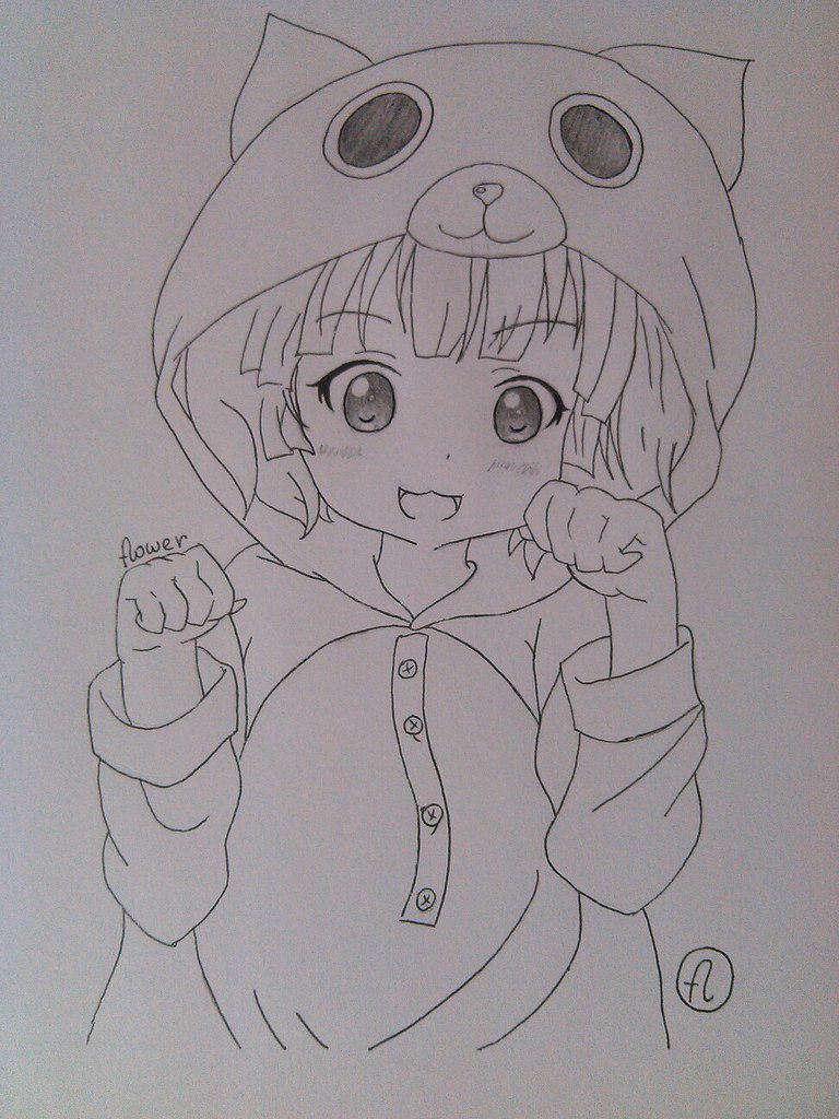 Рисуем милую аниме девочку в пижамке - шаг 6