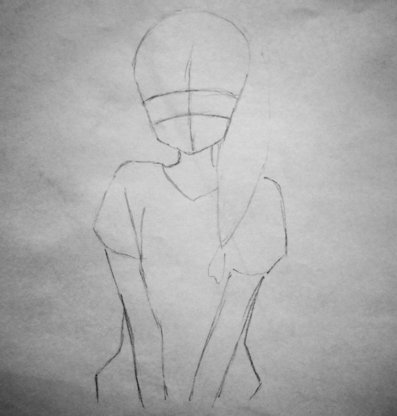 Рисуем милую аниме девушку - шаг 1