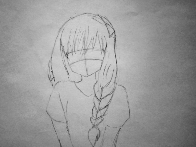Рисуем милую аниме девушку - шаг 2