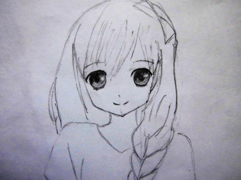 Рисуем милую аниме девушку - шаг 4