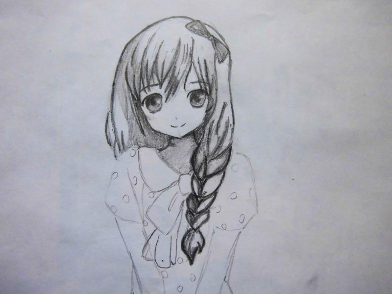 Рисуем милую аниме девушку - шаг 5