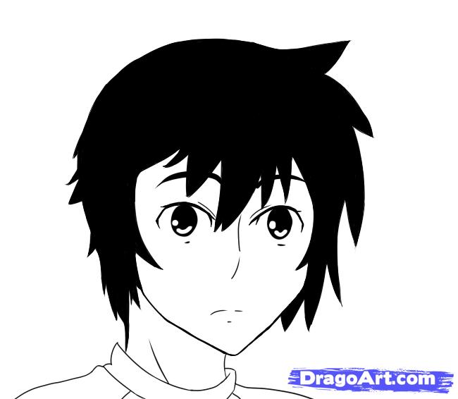Рисуем Minato из манги Sekirei