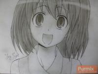 Фото Минори Кусиэду из аниме Торадора карандашом