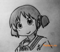 Мио Наганохару из аниме Мелочи жизни