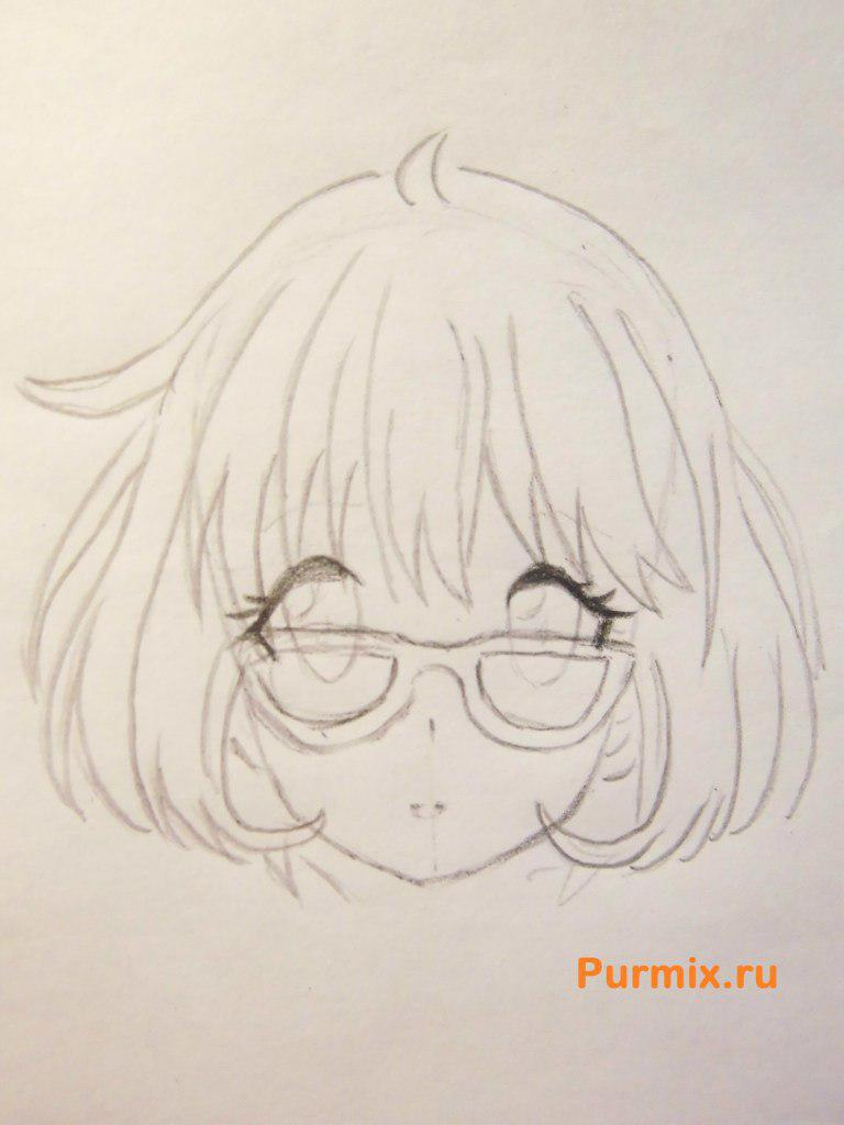 Рисуем Мирай Курияму из аниме За гранью - шаг 3