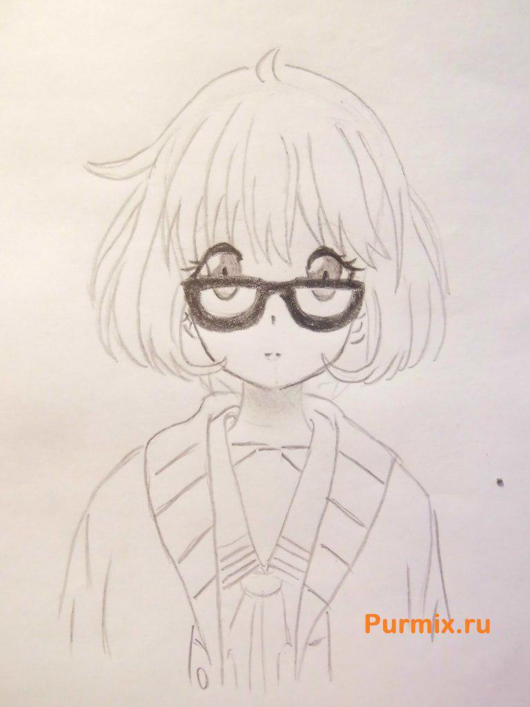 Рисуем Мирай Курияму из аниме За гранью - шаг 5