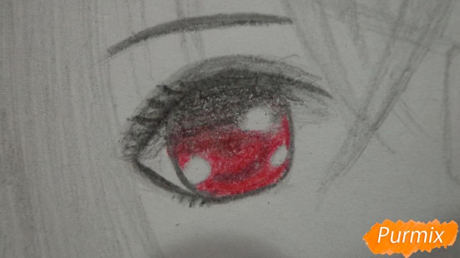 Рисуем Мисаки Мэй из аниме Иная карандашами - шаг 7