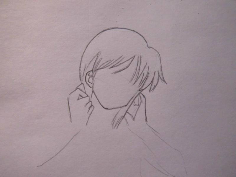 Рисуем Нами из One Piece - шаг 2