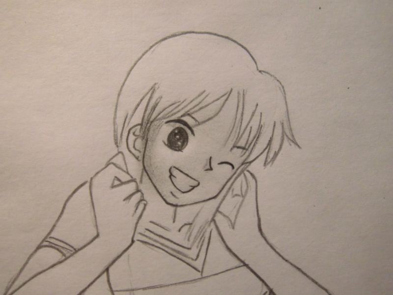 Рисуем Нами из One Piece - шаг 6