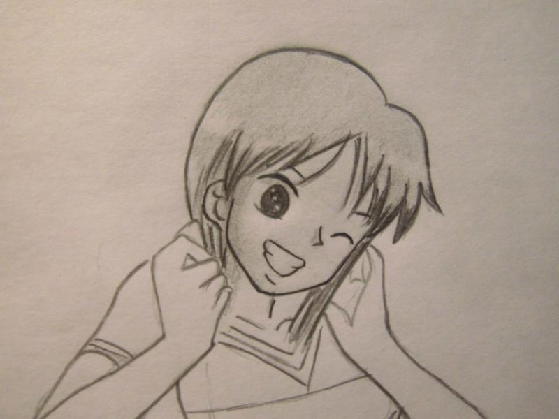 Рисуем Нами из One Piece - шаг 7