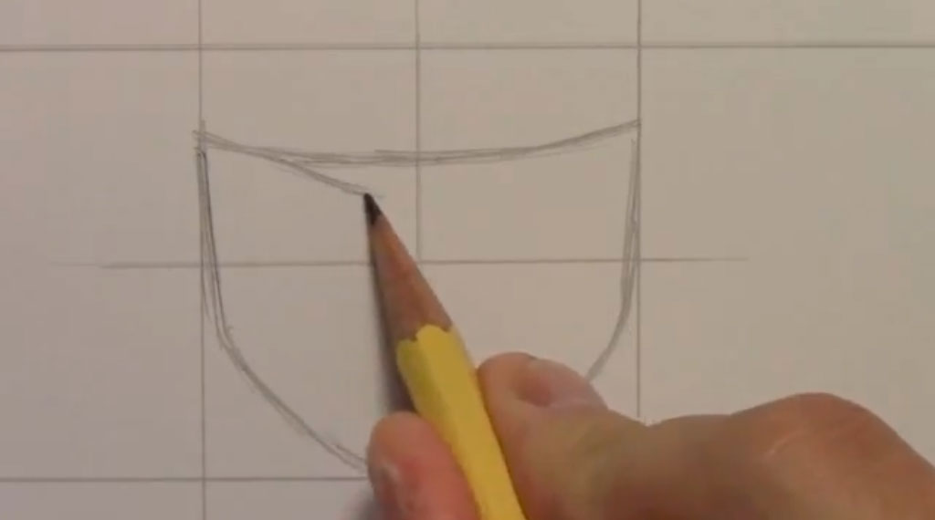 Рисуем Наруто Удзумаки для начинающих - шаг 1
