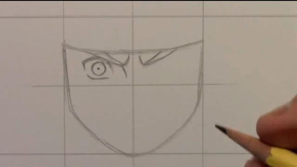 Рисуем Наруто Удзумаки для начинающих - шаг 2