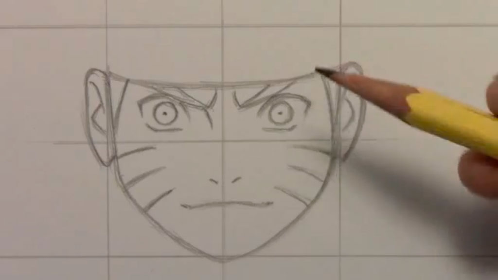 Рисуем Наруто Удзумаки для начинающих - шаг 4