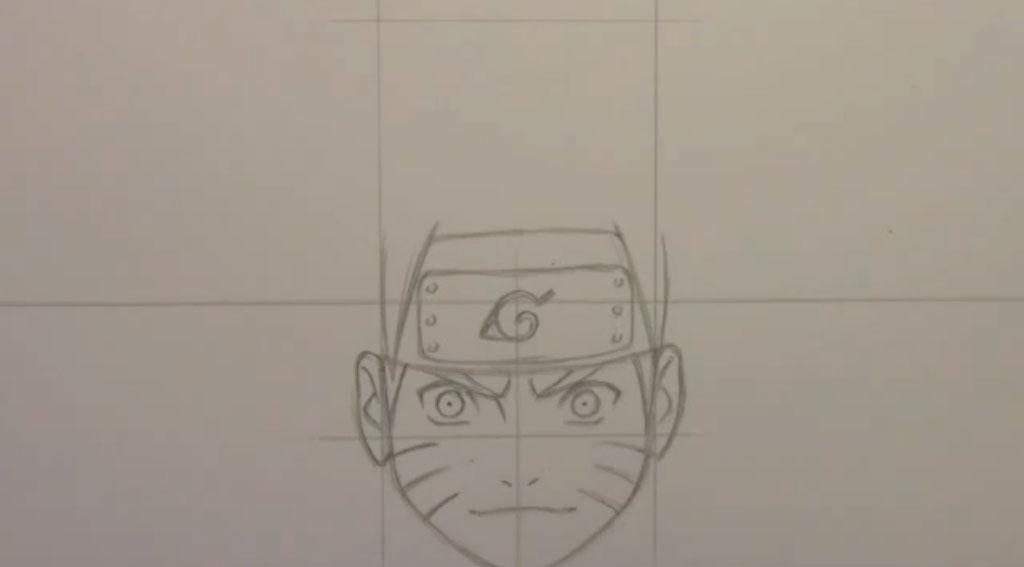 Рисуем Наруто Удзумаки для начинающих - шаг 5