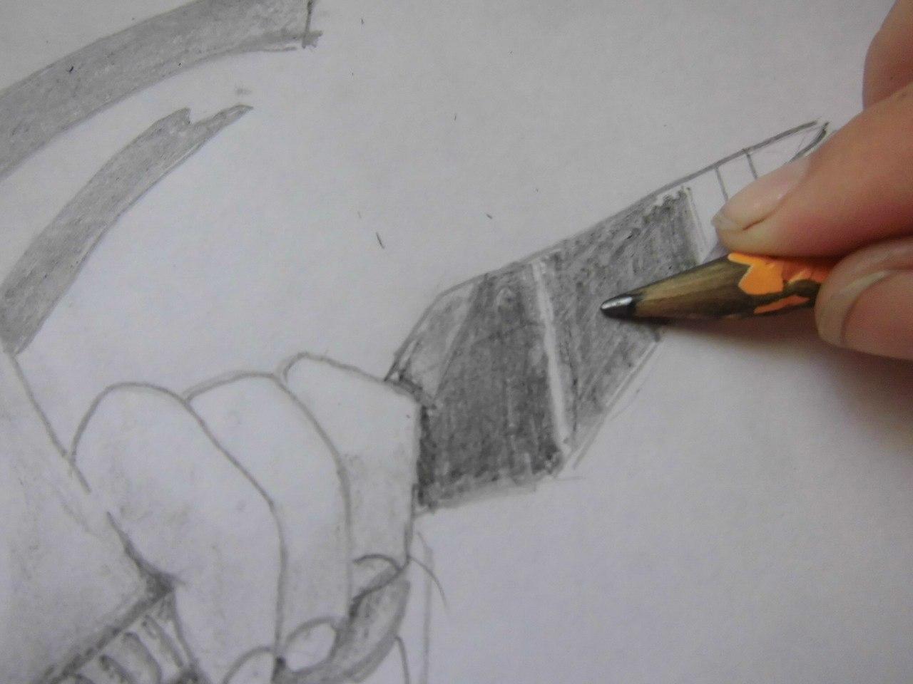 Рисуем Наруто с ножом - шаг 11