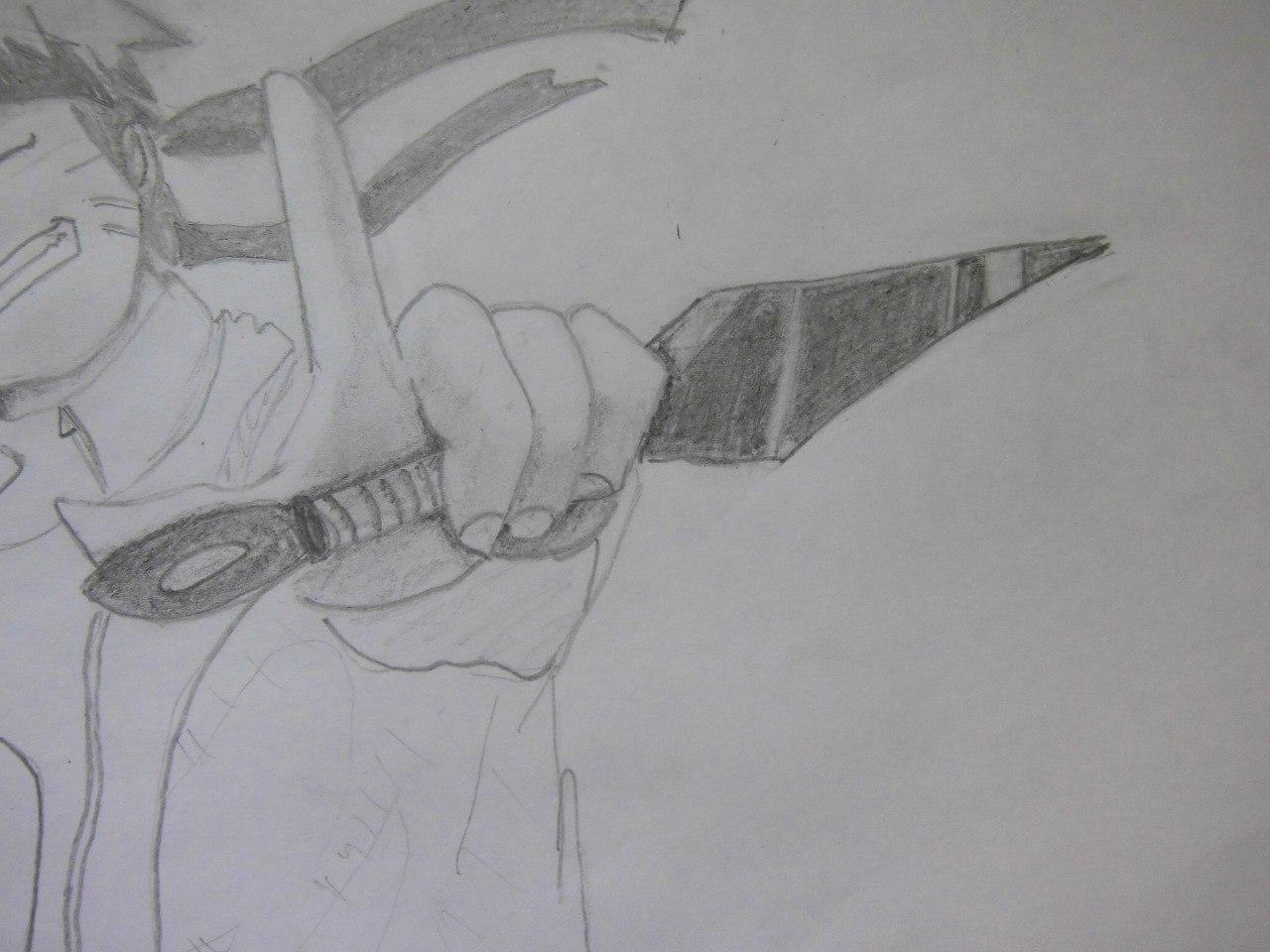 Рисуем Наруто с ножом - шаг 12