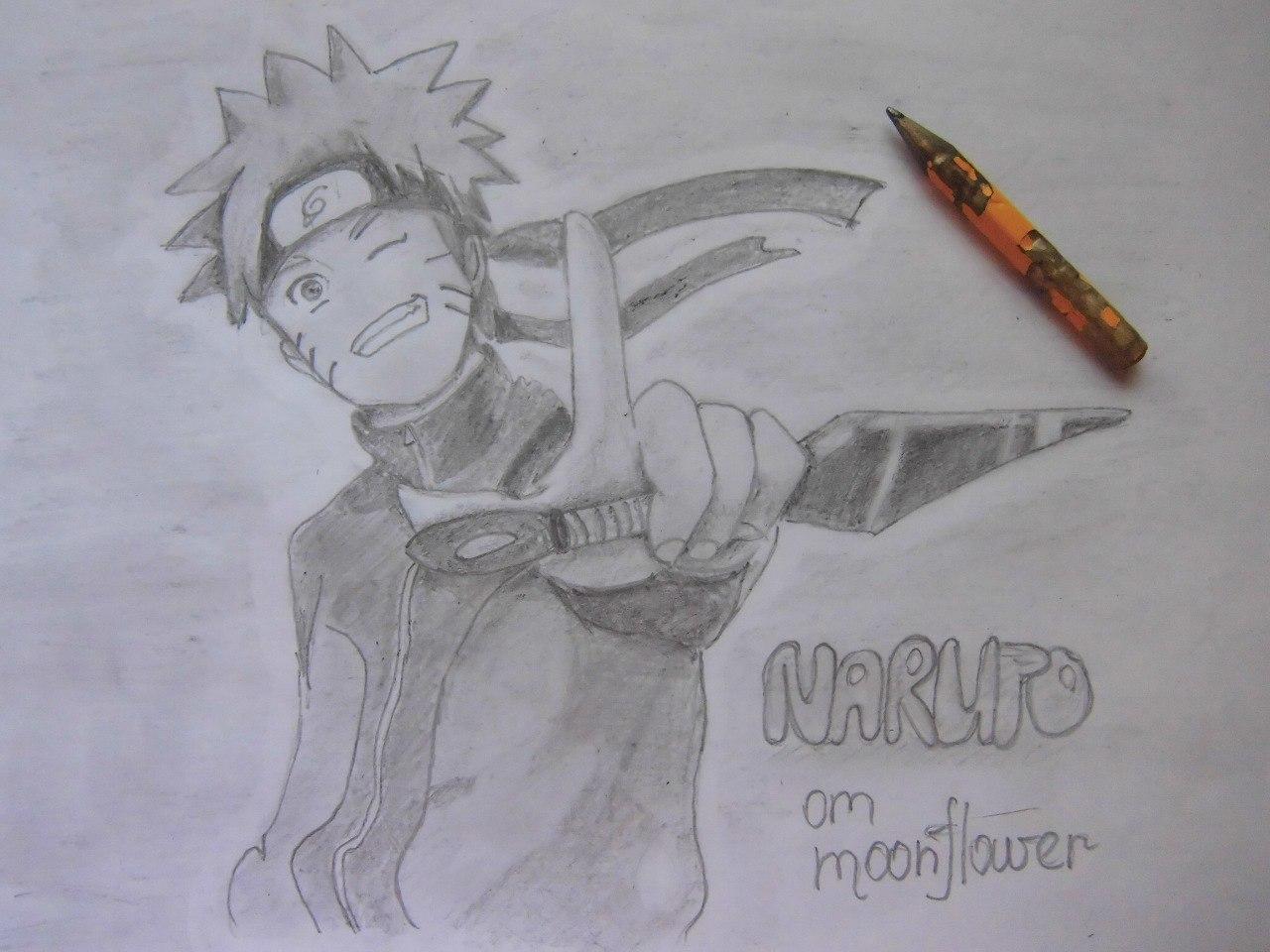 Рисуем Наруто с ножом - шаг 17