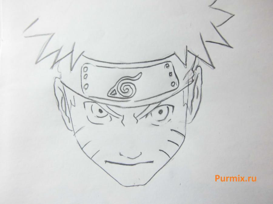 Рисуем Наруто в ярости - шаг 3