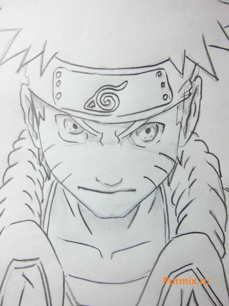 Рисуем Наруто в ярости - шаг 5