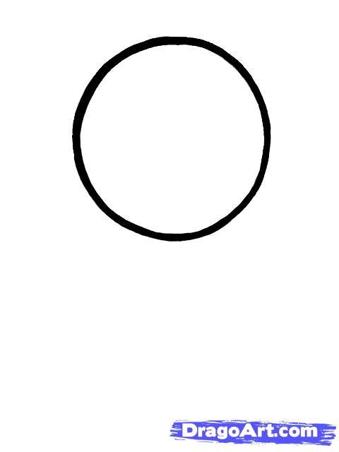 Рисуем портрет Нацу Драгнил для начинающих - шаг 1