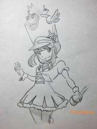 Фото Нонон Дзякудзуре из аниме Убей или умри карандашом