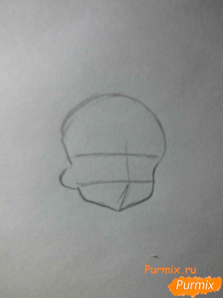 Рисуем Нотти из аниме Неуловимая воровка Рейня - шаг 1