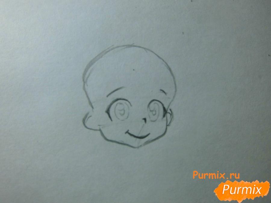 Рисуем Нотти из аниме Неуловимая воровка Рейня - шаг 2