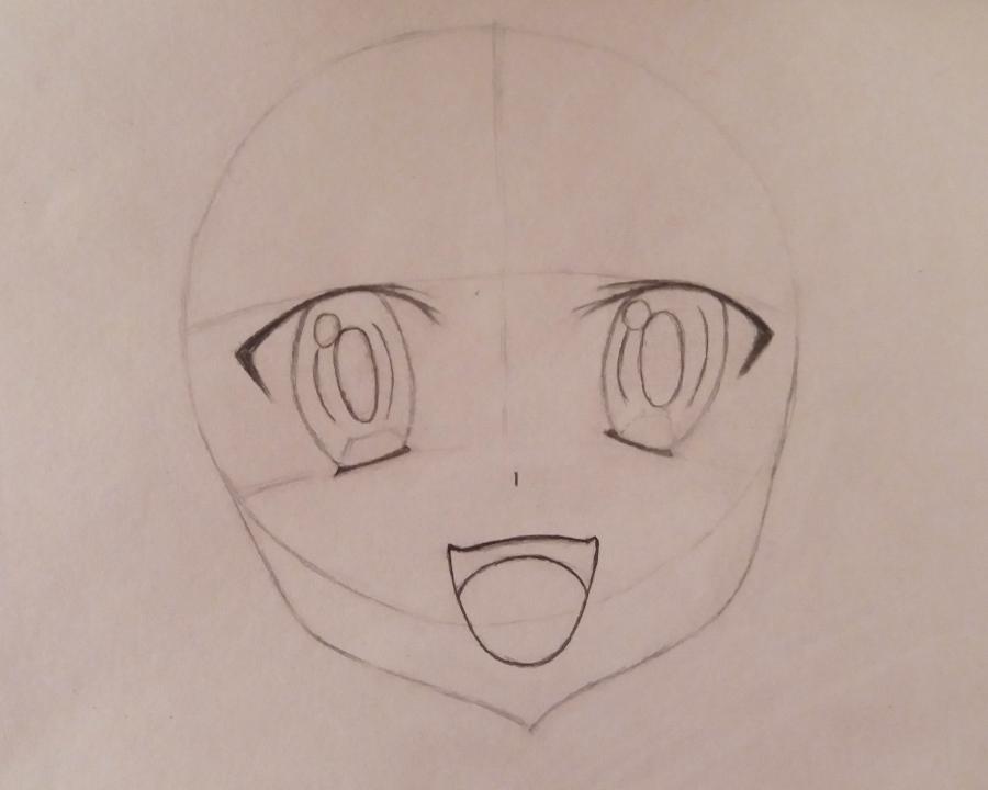 Рисуем Няруко из аниме Haiyore простым - шаг 4