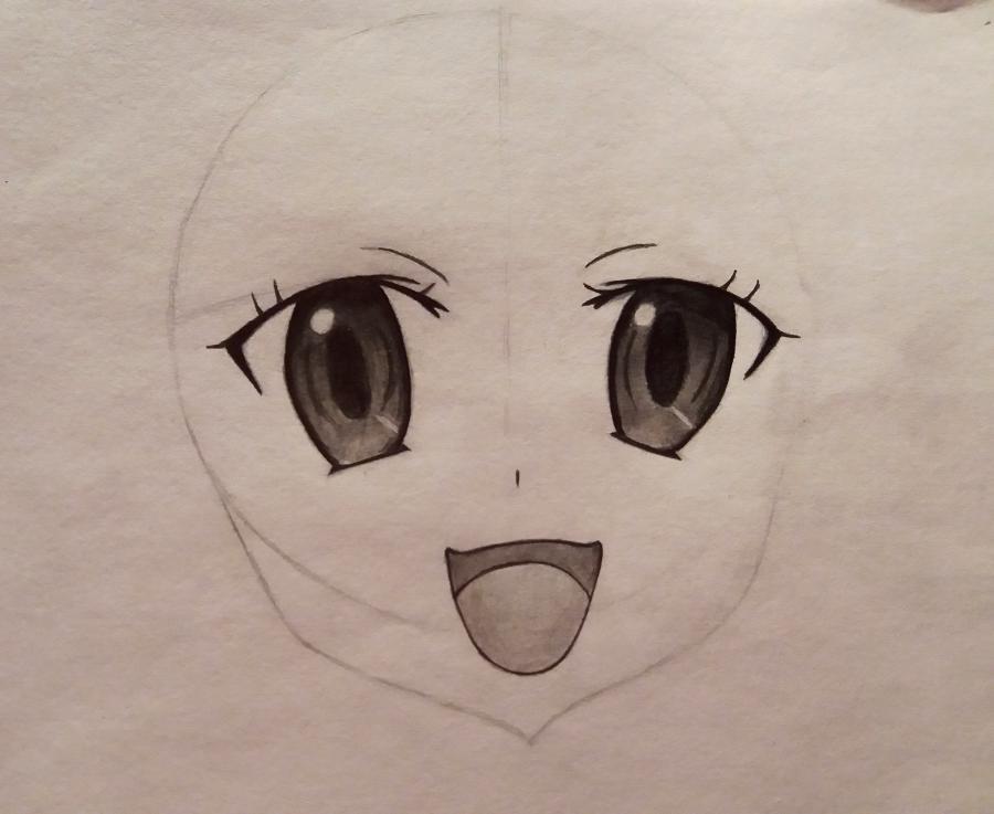 Рисуем Няруко из аниме Haiyore простым - шаг 5