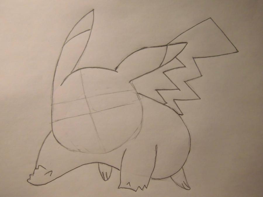 Рисуем Пикачу - шаг 3