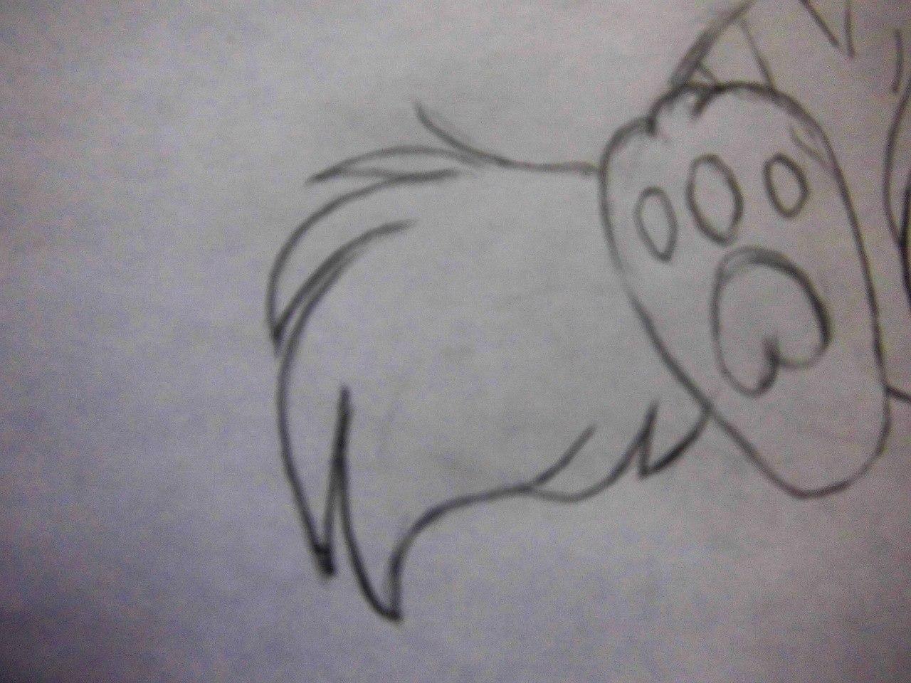 Рисуем плачущего аниме котёнка - шаг 6