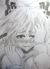 плачущую аниме девушку