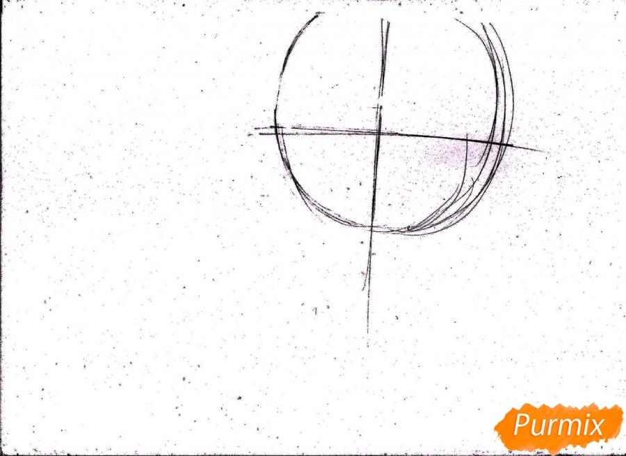 Рисуем портрет Куроко Тэцуя простым - шаг 1