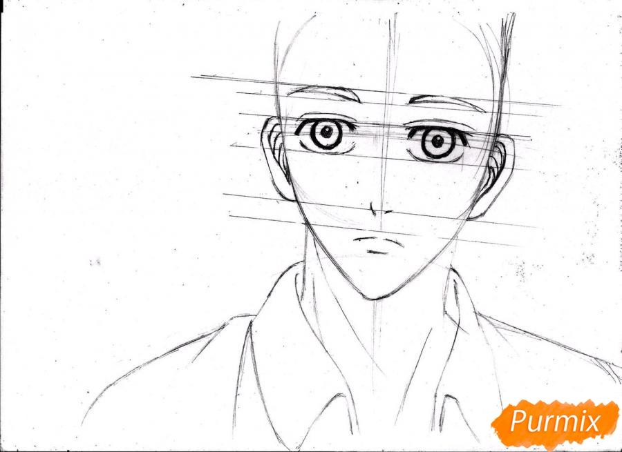 Рисуем портрет Куроко Тэцуя простым - шаг 11