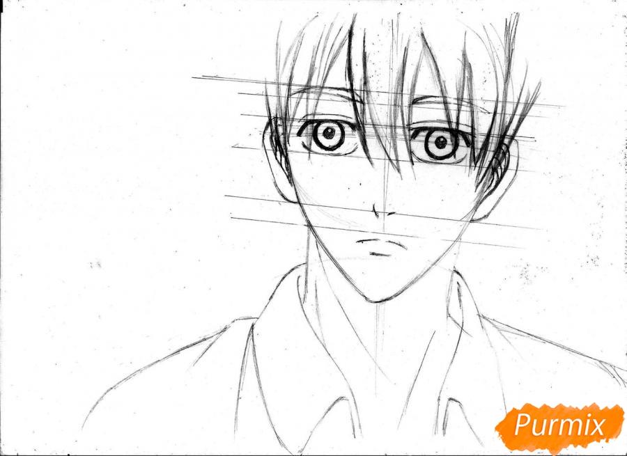 Рисуем портрет Куроко Тэцуя простым - шаг 12