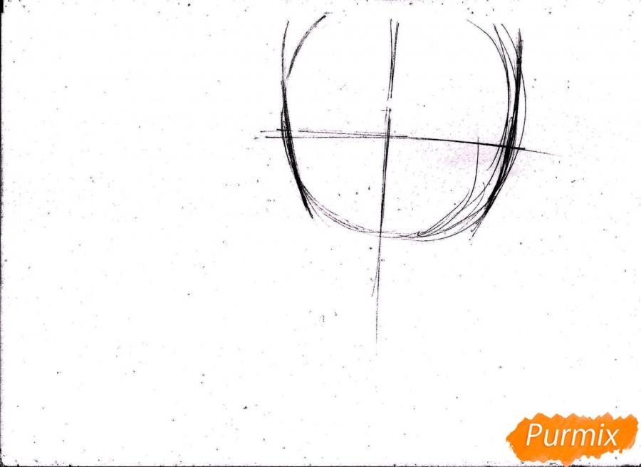 Рисуем портрет Куроко Тэцуя простым - шаг 2