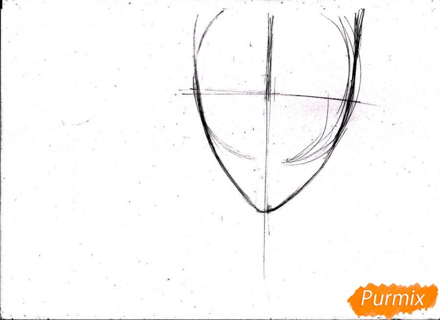 Рисуем портрет Куроко Тэцуя простым - шаг 3