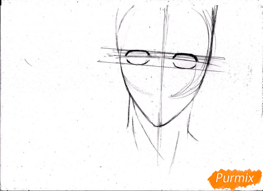 Рисуем портрет Куроко Тэцуя простым - шаг 5