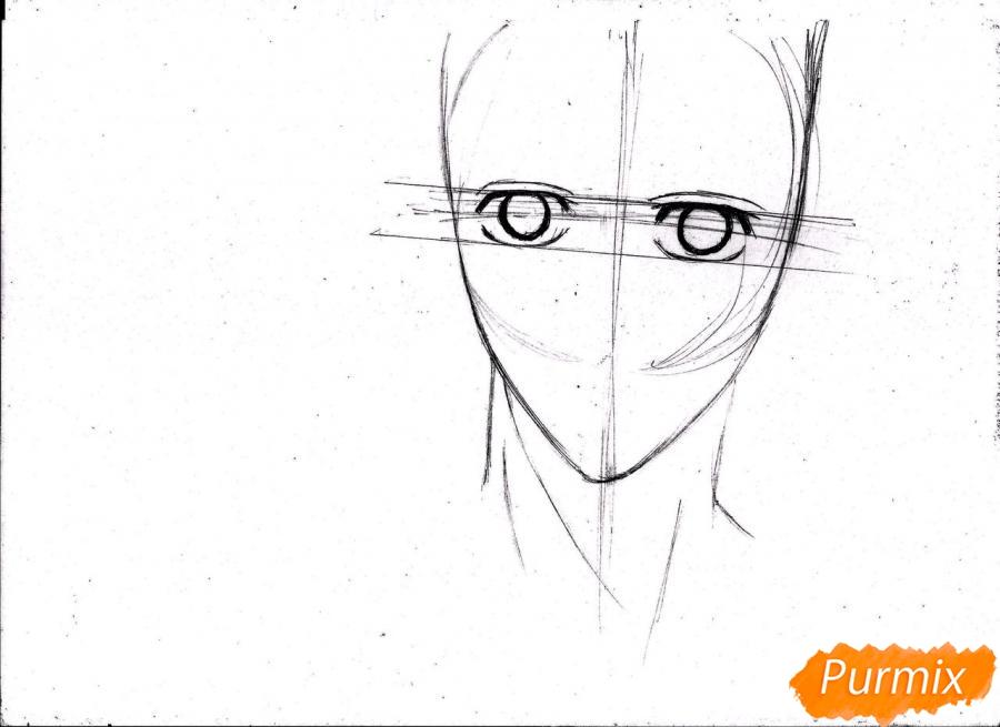 Рисуем портрет Куроко Тэцуя простым - шаг 6