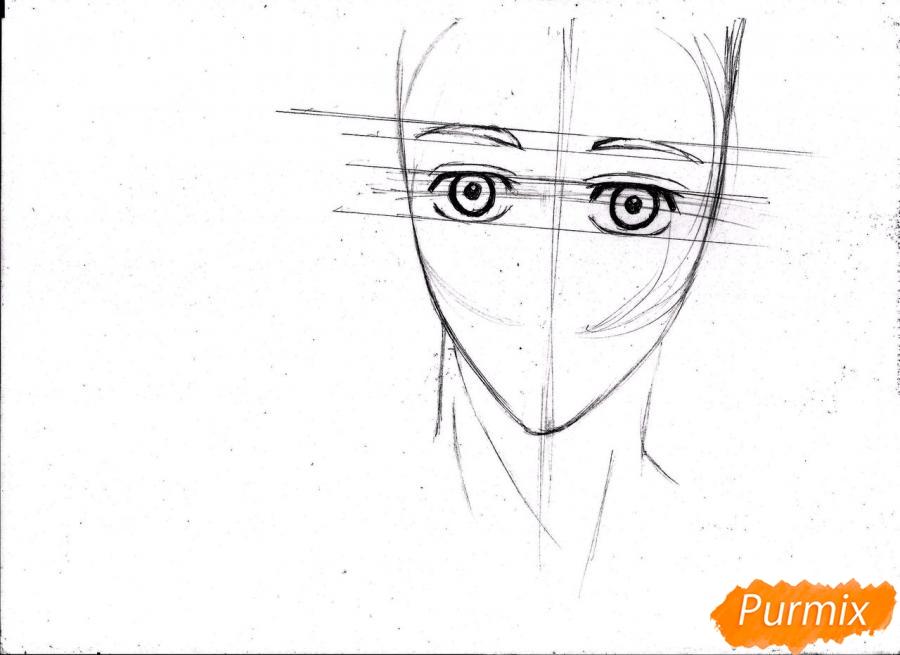 Рисуем портрет Куроко Тэцуя простым - шаг 7