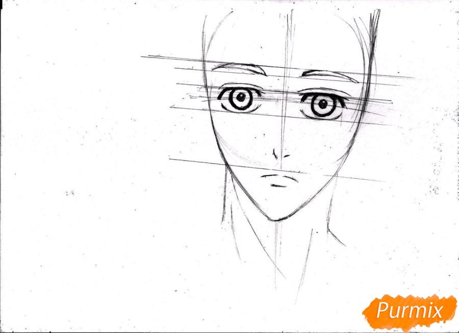 Рисуем портрет Куроко Тэцуя простым - шаг 8