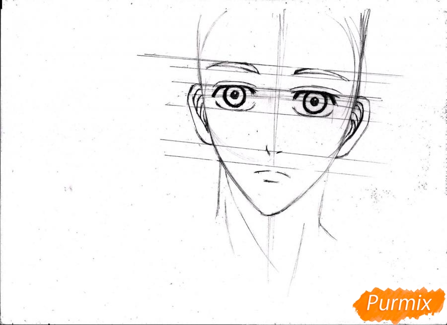 Рисуем портрет Куроко Тэцуя простым - шаг 9