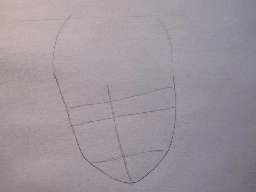 Рисуем портрет Наруто - шаг 1