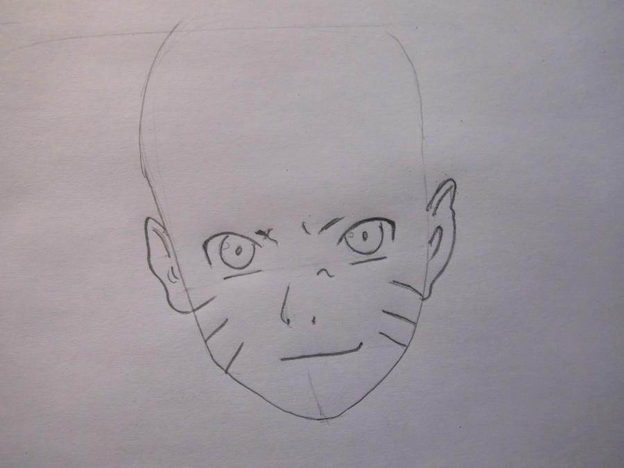 Рисуем портрет Наруто - шаг 2