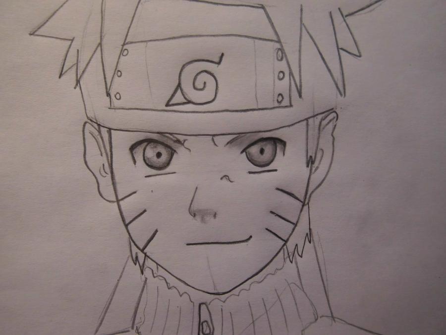 Рисуем портрет Наруто - шаг 5