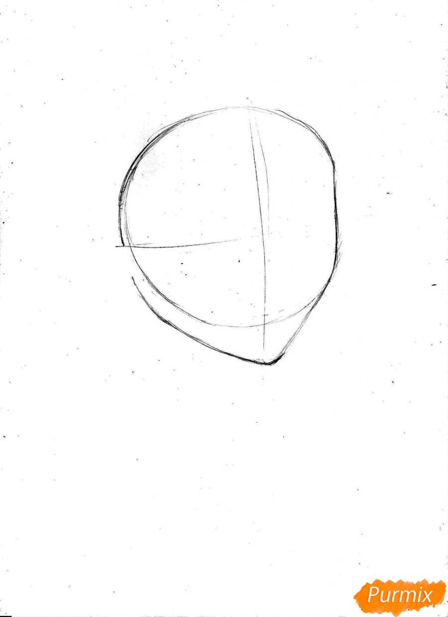 Рисуем и раскрасить портрет Ноджико из One Piece пошагово простым - шаг 2