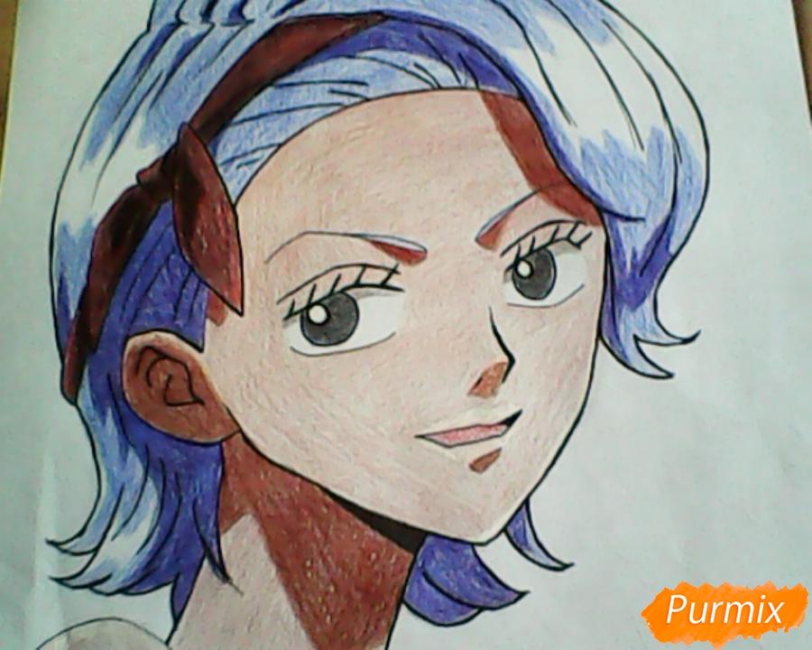 Рисуем и раскрасить портрет Ноджико из One Piece пошагово простым - шаг 29