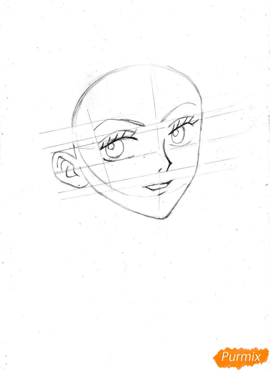Рисуем и раскрасить портрет Ноджико из One Piece пошагово простым - шаг 8